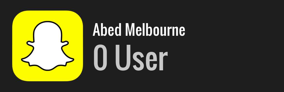 Abed Melbourne snapchat