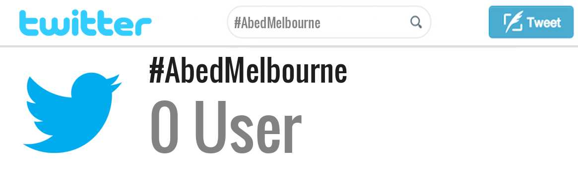 Abed Melbourne twitter account