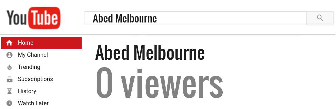 Abed Melbourne youtube subscribers