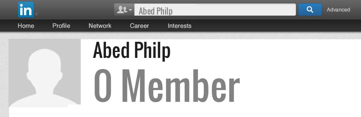 Abed Philp linkedin profile