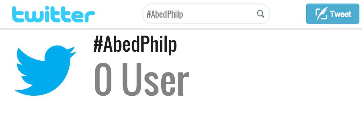 Abed Philp twitter account