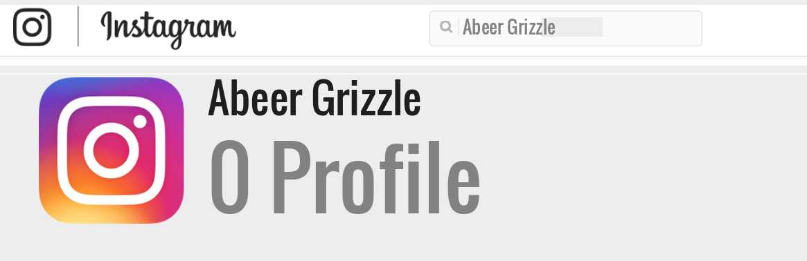 Abeer Grizzle instagram account