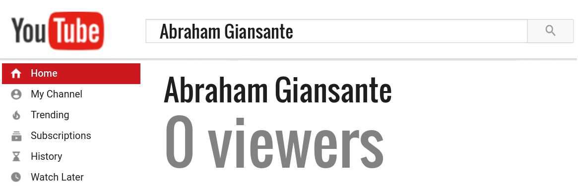 Abraham Giansante youtube subscribers