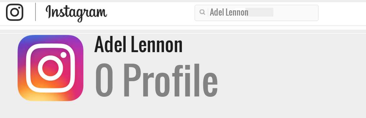 Adel Lennon instagram account