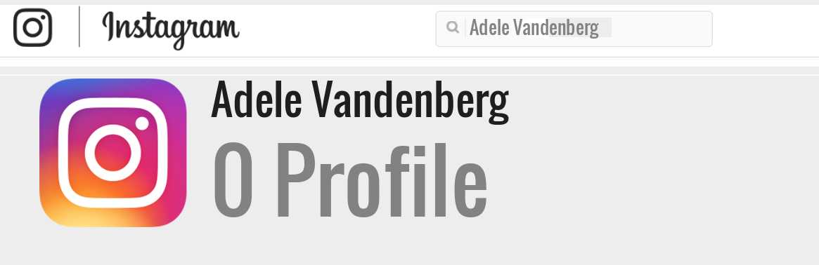 Adele Vandenberg instagram account