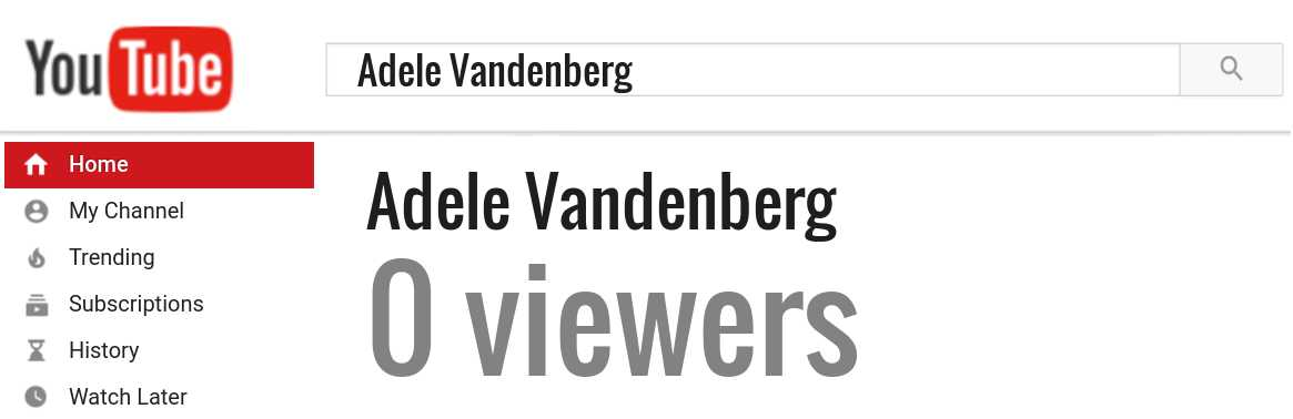 Adele Vandenberg youtube subscribers