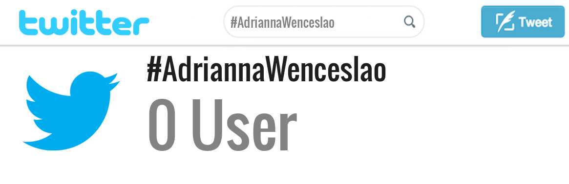 Adrianna Wenceslao twitter account