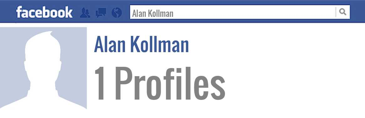 Alan Kollman facebook profiles
