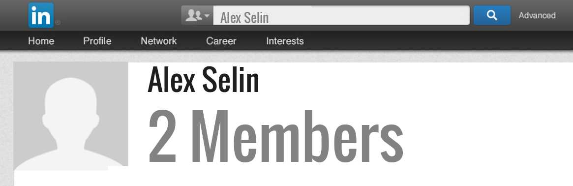Alex Selin linkedin profile