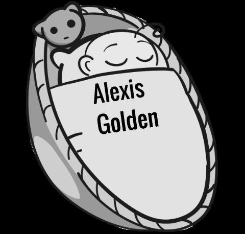 Alexis Golden Sleeping Baby