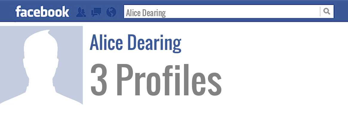 Alice Dearing facebook profiles