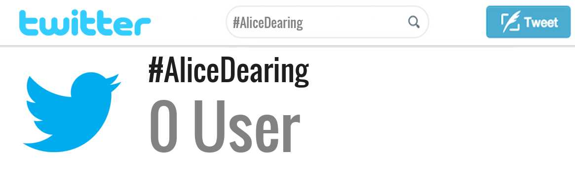 Alice Dearing twitter account
