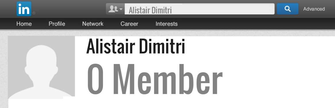 Alistair Dimitri linkedin profile