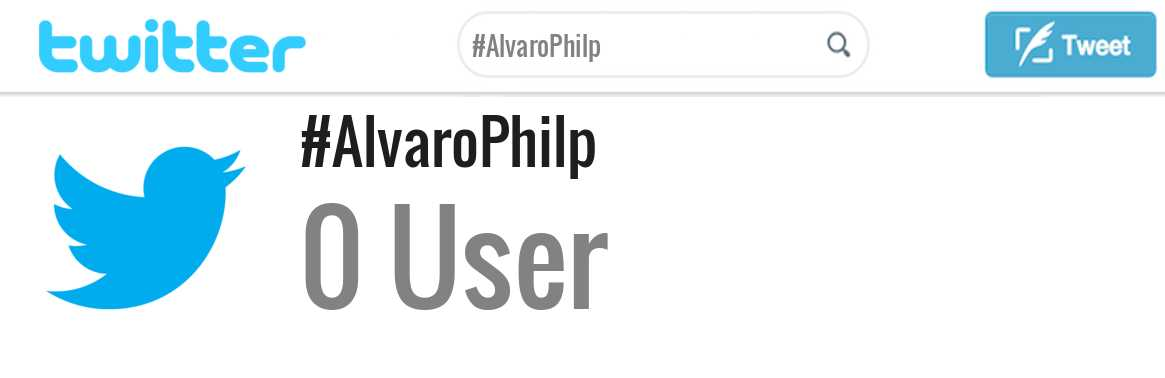 Alvaro Philp twitter account