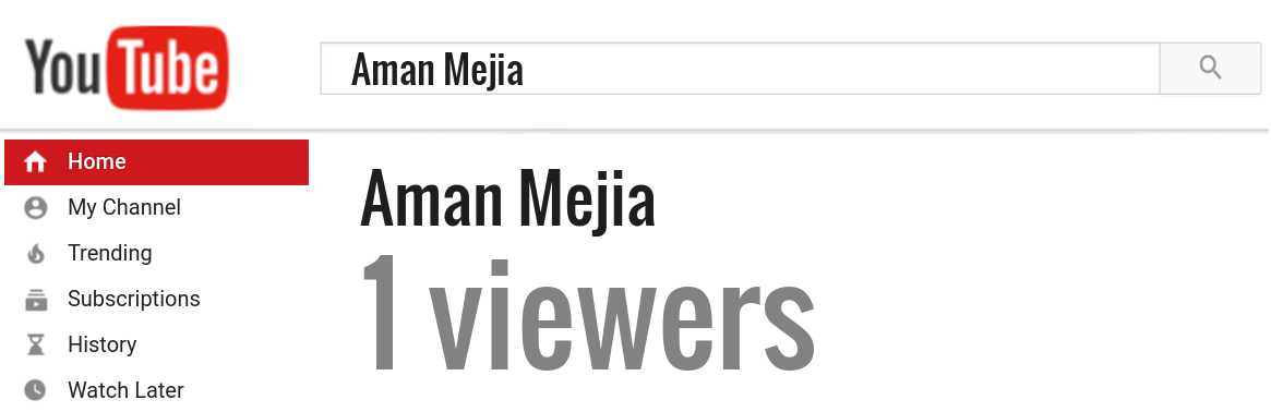 Aman Mejia youtube subscribers