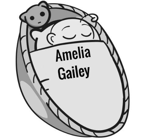 Amelia Gailey sleeping baby