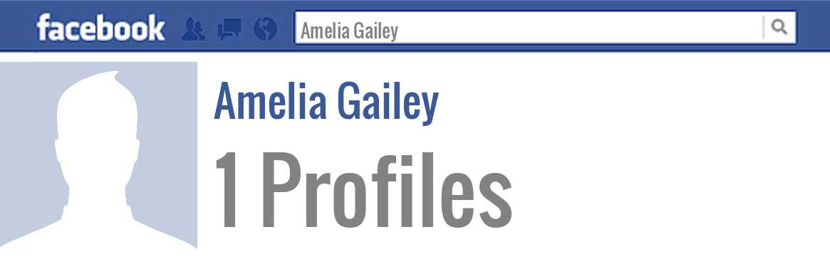 Amelia Gailey facebook profiles