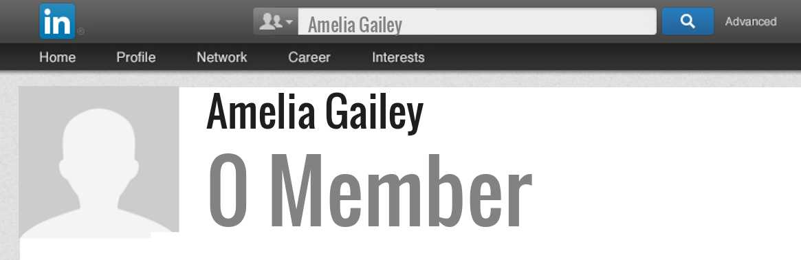 Amelia Gailey linkedin profile