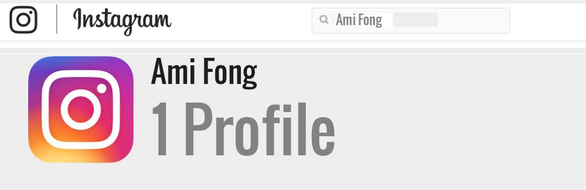 Ami Fong instagram account