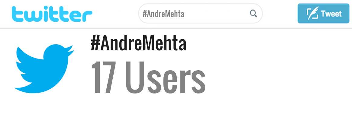 Andre Mehta twitter account