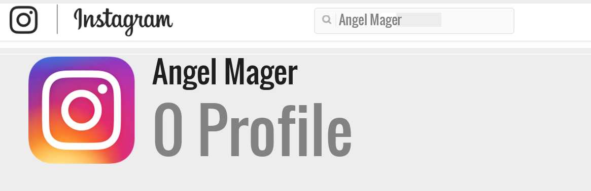 Angel Mager instagram account