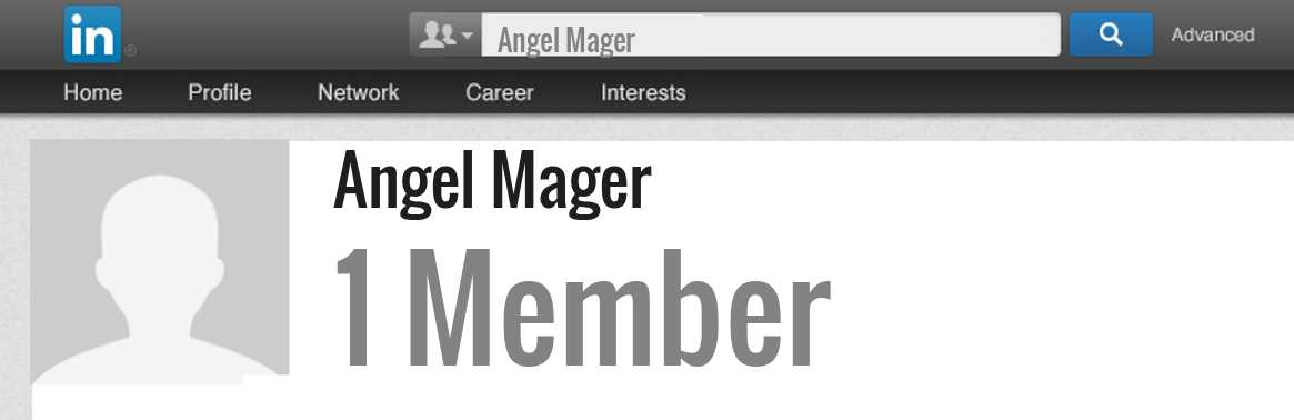 Angel Mager linkedin profile