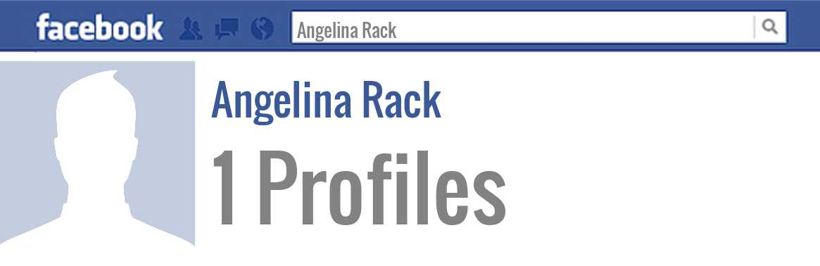 Angelina Rack facebook profiles