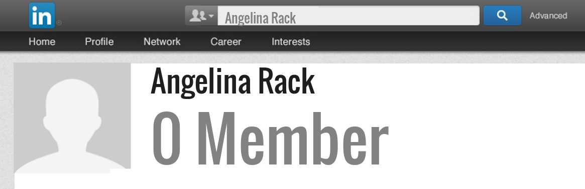 Angelina Rack linkedin profile