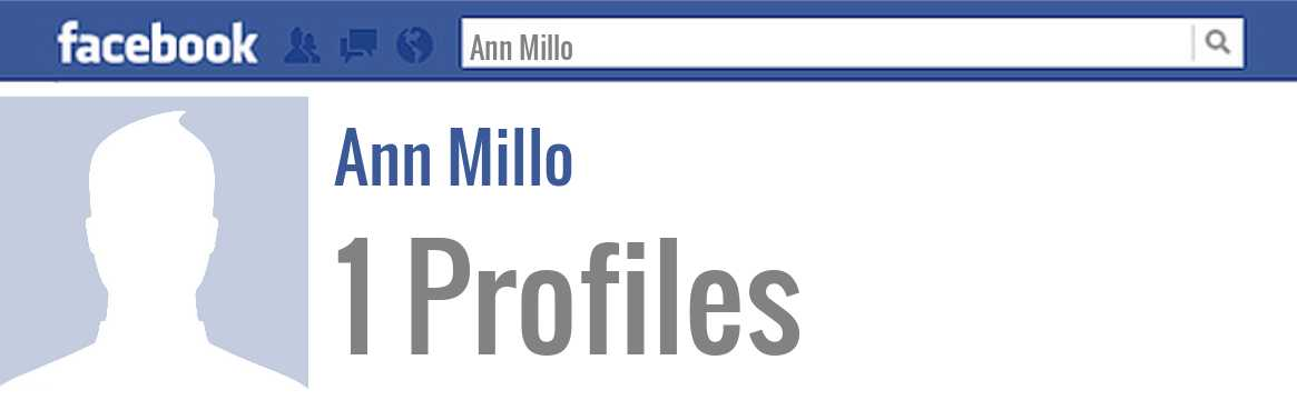 Ann Millo facebook profiles