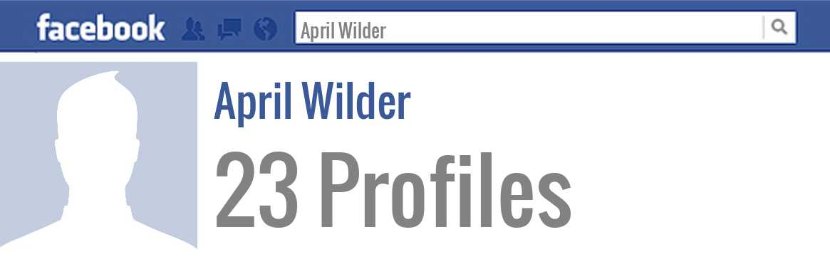 April Wilder facebook profiles