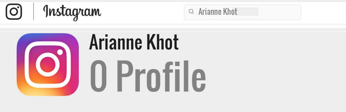 Arianne Khot instagram account