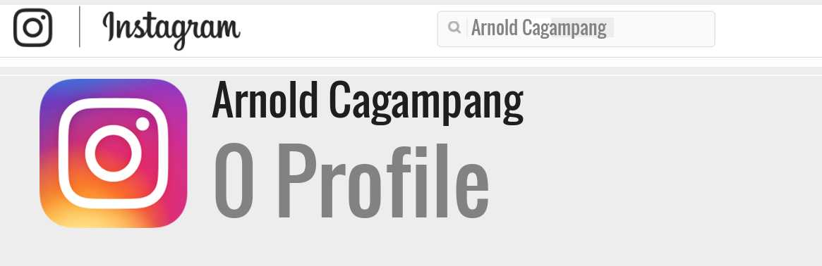 Arnold Cagampang instagram account