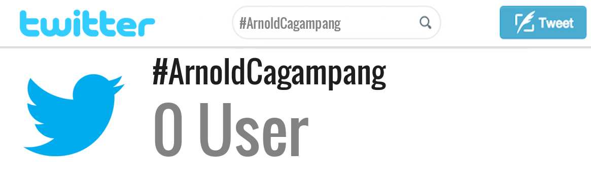 Arnold Cagampang twitter account