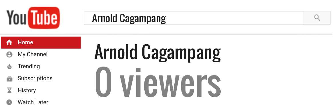 Arnold Cagampang youtube subscribers