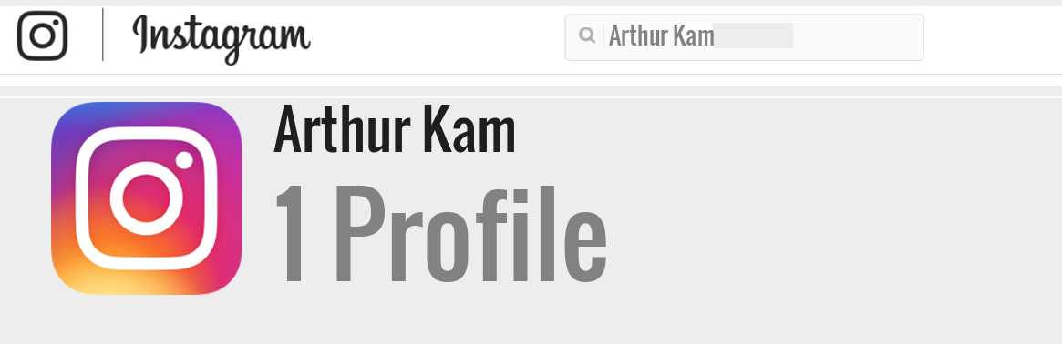 Arthur Kam instagram account