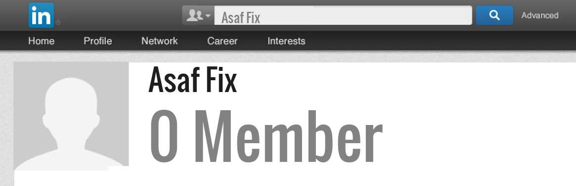 Asaf Fix linkedin profile