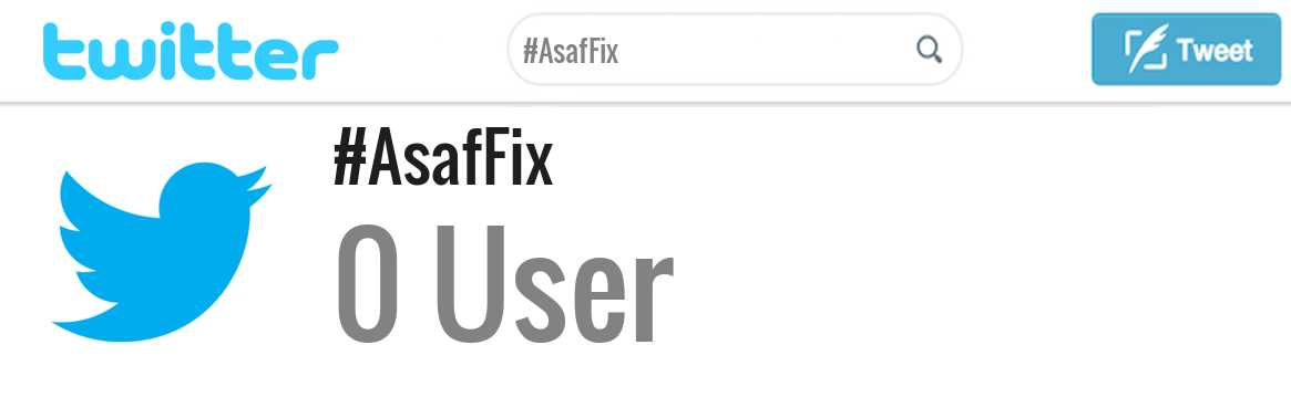 Asaf Fix twitter account