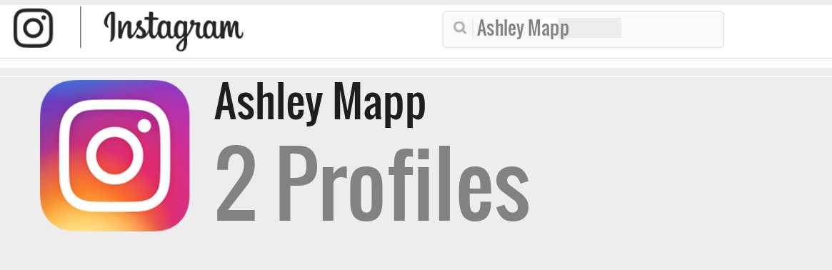 Ashley Mapp instagram account