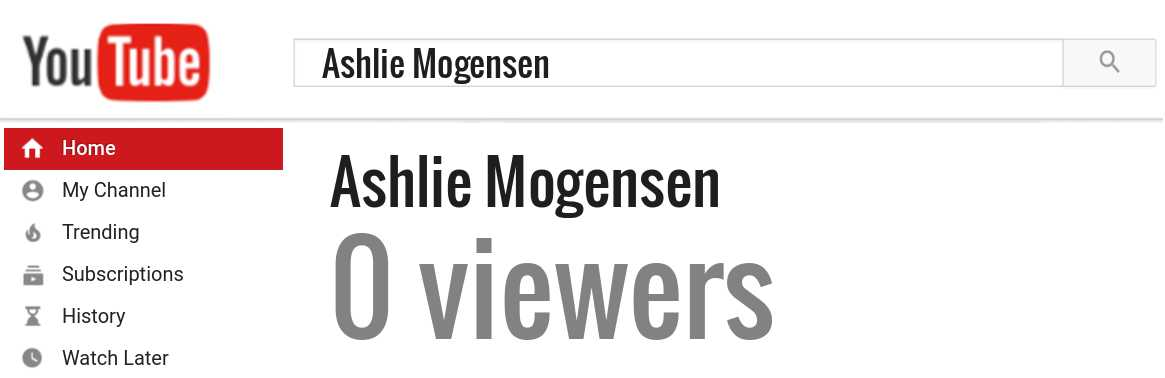 Ashlie Mogensen youtube subscribers