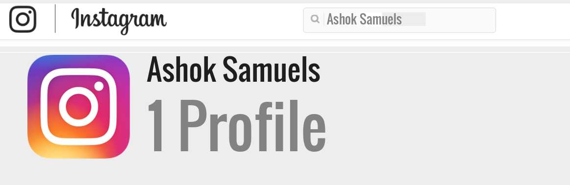 Ashok Samuels instagram account