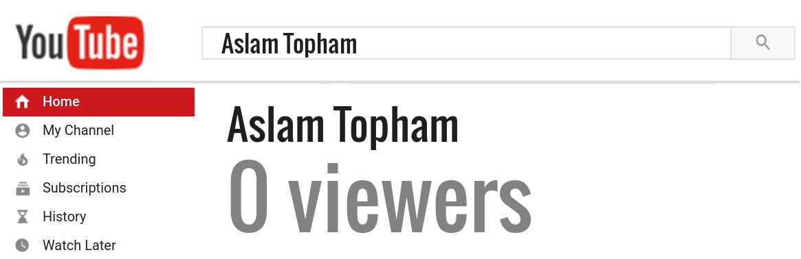 Aslam Topham youtube subscribers