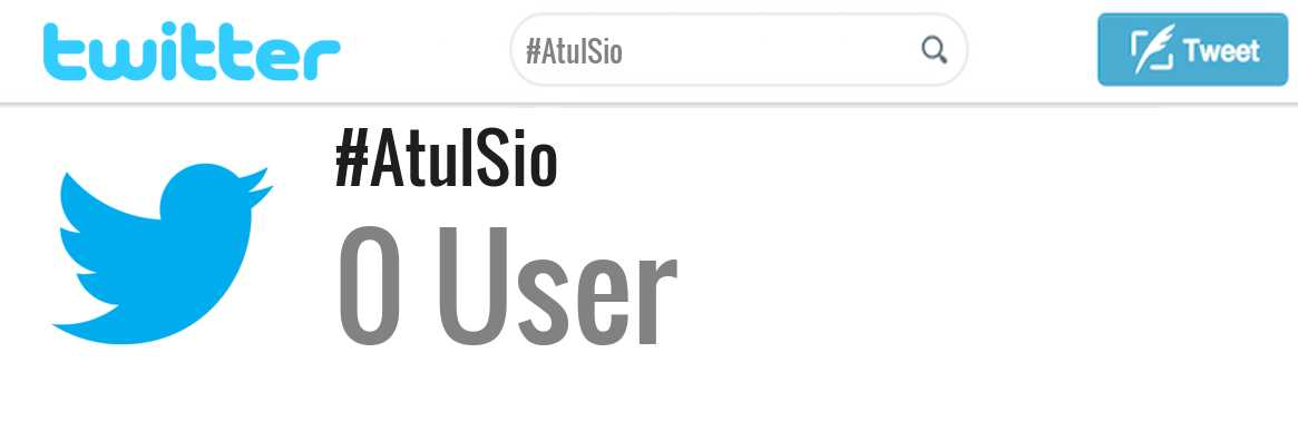 Atul Sio twitter account