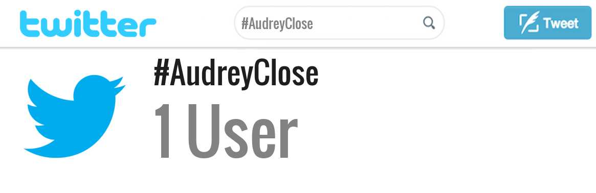 Audrey Close twitter account