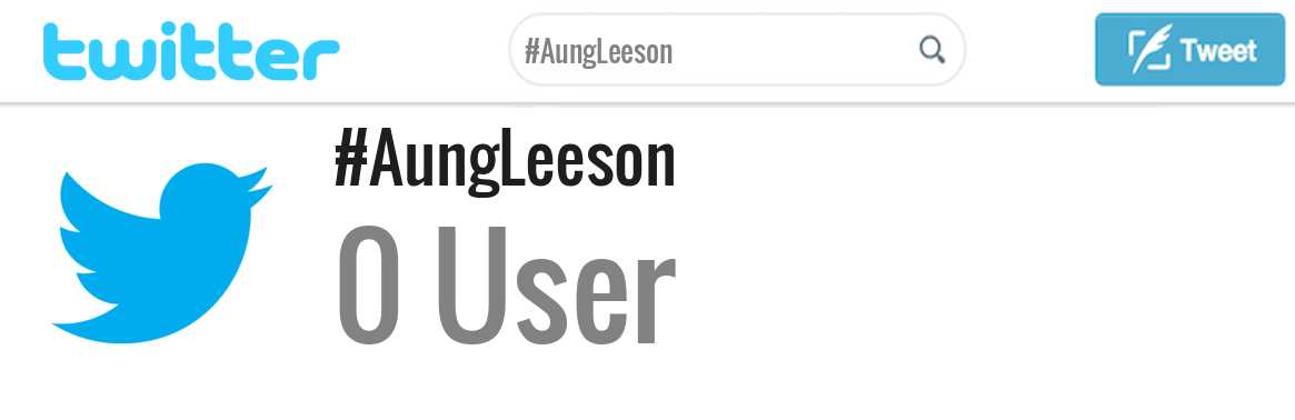 Aung Leeson twitter account