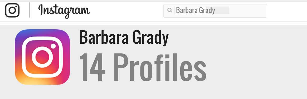 Barbara Grady instagram account