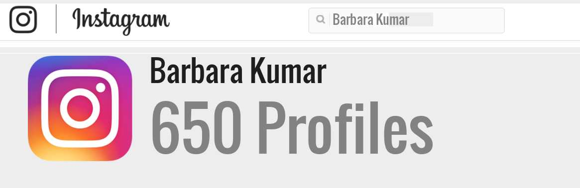 Barbara Kumar instagram account