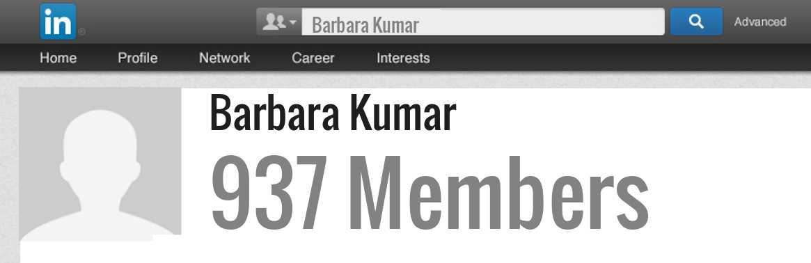 Barbara Kumar linkedin profile