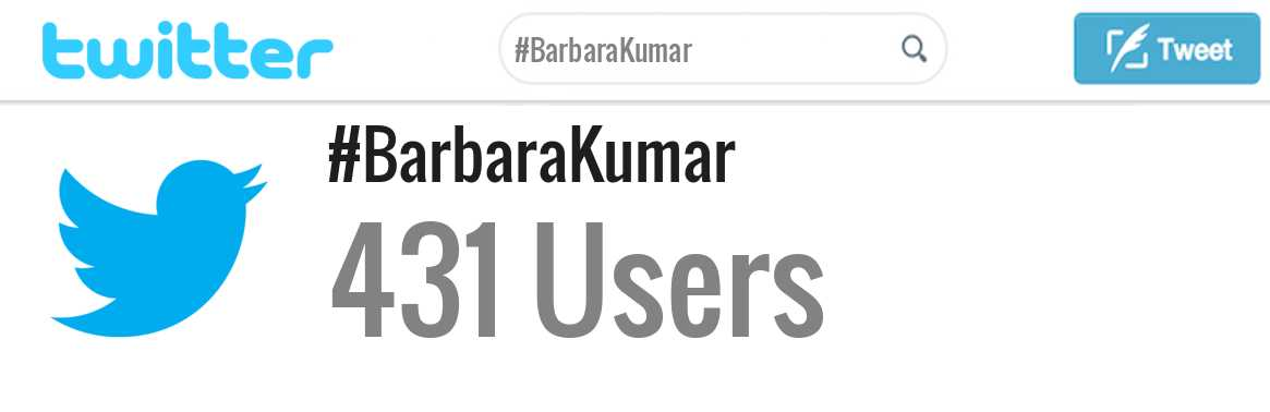 Barbara Kumar twitter account
