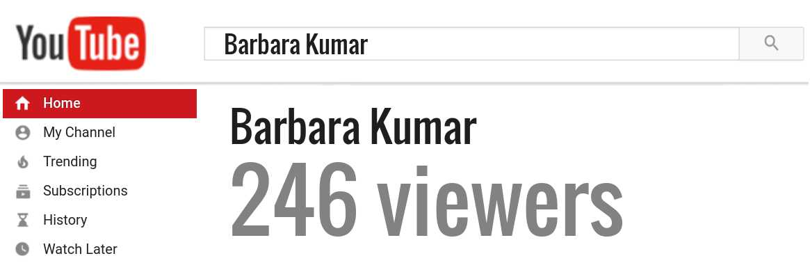 Barbara Kumar youtube subscribers