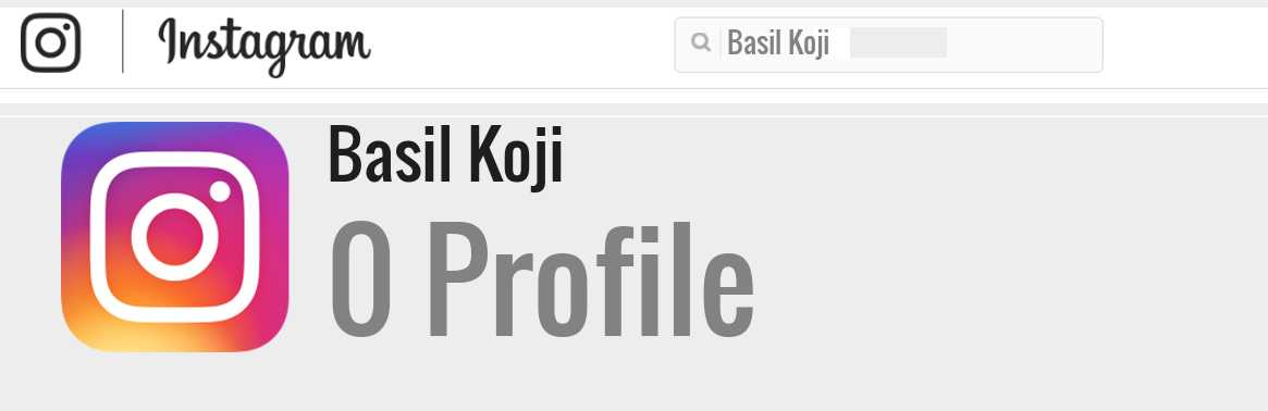 Basil Koji instagram account